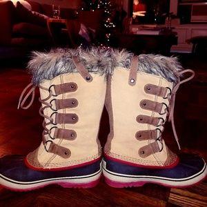 SOREL Joan of Arctic Snow Boot Taffy Size 8.5
